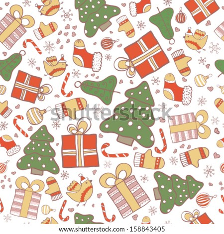 holiday wallpaper in vector for cute new year and christmas cards christmas background cartoon new year illustration stock images page everypixel everypixel