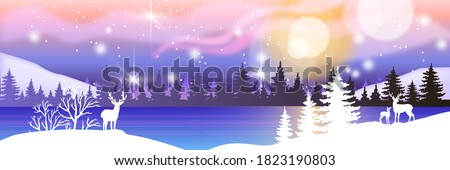 holiday winter landscape with