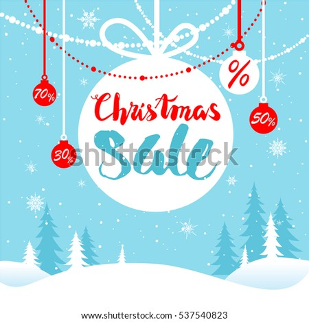 Stock Photo Holiday winter sale