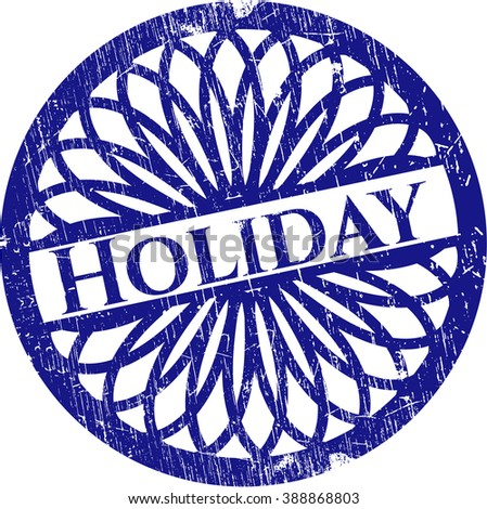 Holiday with rubber seal texture