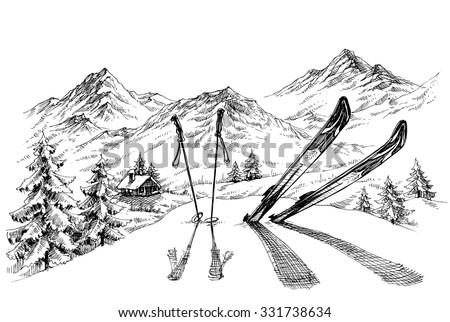 holidays at ski background