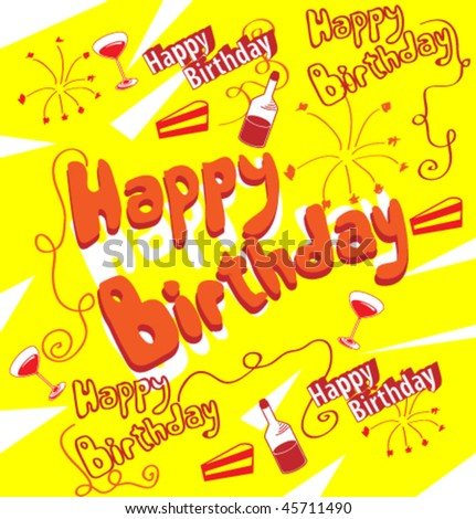 stock vector : Holidays poster for Happy Birthday. Design template card.
