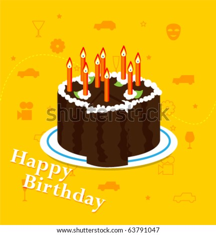 Holidays Poster For Happy Birthday. Design Template Car