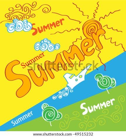 holidays summer poster