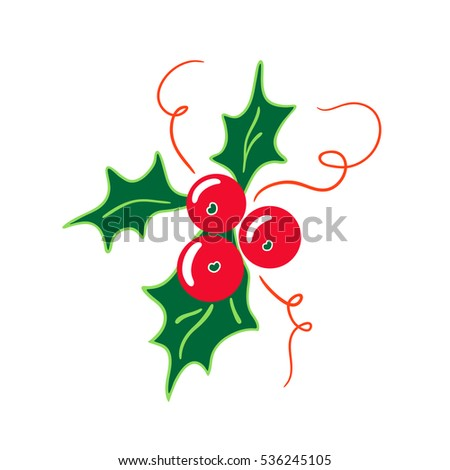 holly berries icon christmas