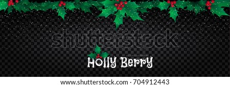 holly berry border christmas