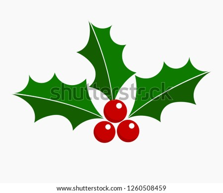 Holly berry Christmas icon. Element for design.