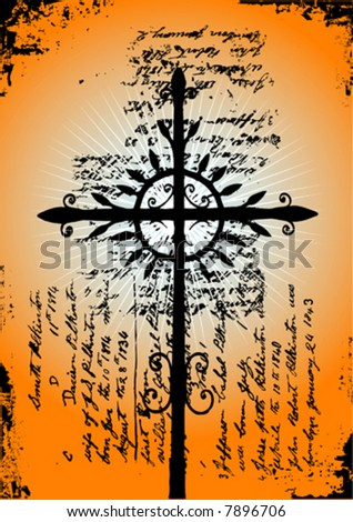 holly cross vector