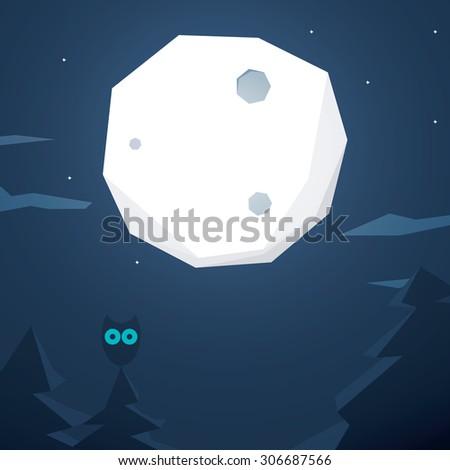 hollywood polygonal background