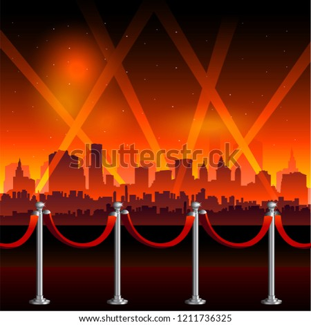 Hollywood red carpet background