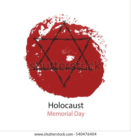 holocaust memorial day vector