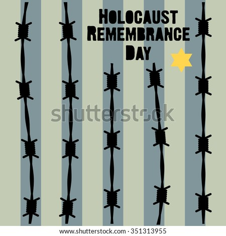Holocaust Remembrance Day. January 27. Vector illustration