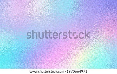 Hologram background. Iridescent foil effect texture. Holography pattern. Pearlescent gradient. Rainbow surface for design prints. Pastel color. Holographic metal patern. Delicate background. Vector