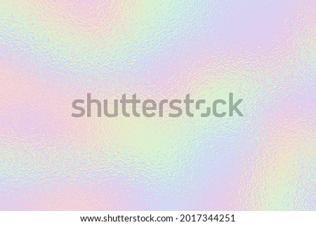 Hologram background. Rainbow foil effect texture. Holography pattern. Pearlescent gradient. Holographic ombre for design prints. Pastel color backdrop. Iridescent metal patern. Neon background. Vector Сток-фото ©