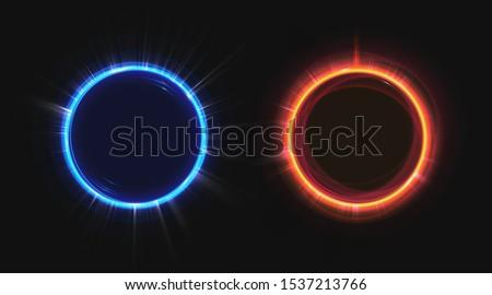 hologram effect circles set