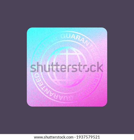 Hologram Label Isolated. Vector Holographic Sticker. Geometric Hologram Seal For Product Guarantee, Sticker Design. Product Certification Symbol. Quality Holographic Sticker.