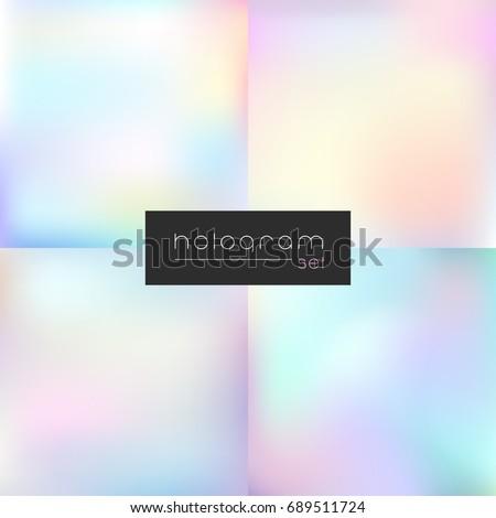 Hologram light gradient set Photo stock ©
