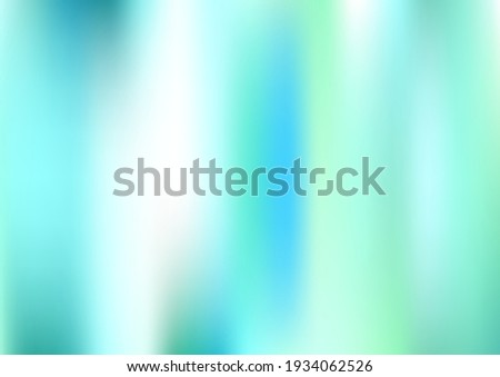 Holograph Minimal Banner. Defocused Girlie Foil Holo Teal. Rainbow Overlay Hologram Cover. Neon Texture Overlay, 80s, 90s Music Background Iridescent Holographic Fluid Girlie Horizontal Wallpaper Stock photo ©