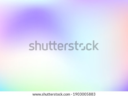 Holographic abstract background. Spectrum holographic backdrop with gradient mesh. 90s, 80s retro style. Iridescent graphic template for book, annual, mobile interface, web app.