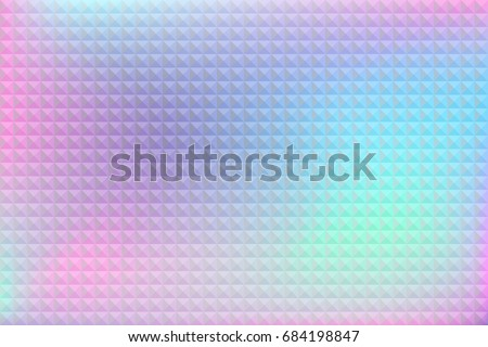 Holographic background. Hologram glitch.  Multicolor wallpaper. Smooth pastel texture. Trendy hipster style backdrop. Trendy vector for web design, business printed products.