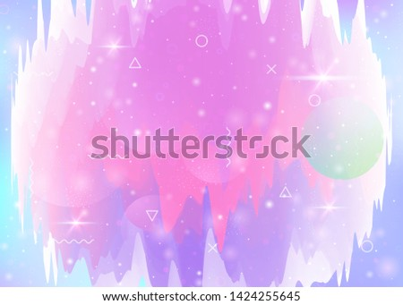 holographic background with