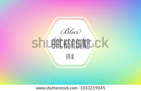 Holographic blurred abstract background. Colorful iridescent modern soft lights. Multicolor rainbow neon glow. Blur trend holography wallpaper. Fluid gradient art. For banner, poster or web design