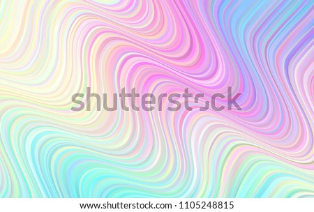 Holographic Gradient Wavy Stripes Vector Background. Pastel Rainbow Distorted Lines Texture. Psychedelic Color Neon Surface in Cyan, Blue, Pink, Violet, Magenta and Yellow.