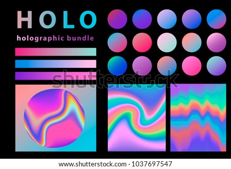 Holographic grdient and background set, bundle.