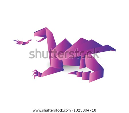 holographic origami dragon
