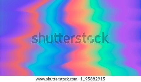 Holographic psychedelic illustration of polarization in retro tie dye 60s-70s hippie style. Synthwave/ retrowave/ vaporwave neon aesthetics.