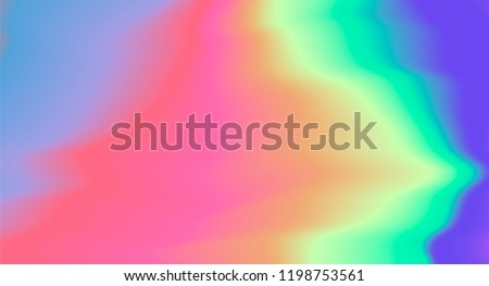 Holographic texture with colorful stains. Psychedelic trippy tie-dye style vector illustration. Synthwave/ retrowave/ vaporwave neon aesthetics.