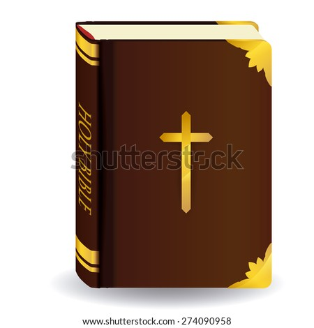 holy bible design over white