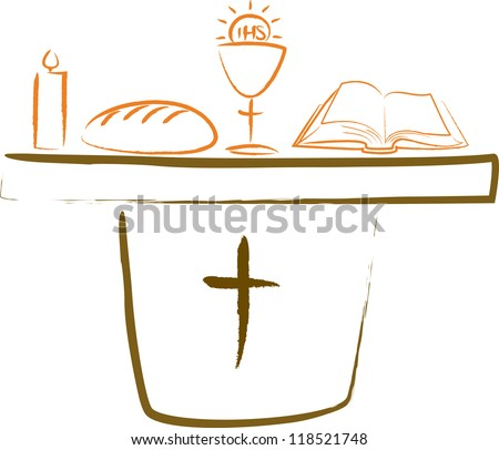 Vector Images Illustrations And Cliparts Holy Communion Altar