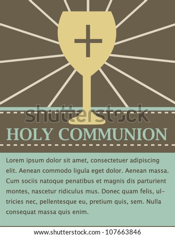 Holy Communion Card - stock vector