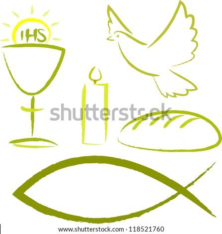 holy communion - religious symbols