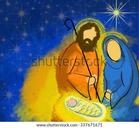 holy family christmas nativity