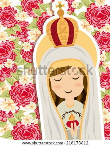 holy mary design vector illustration