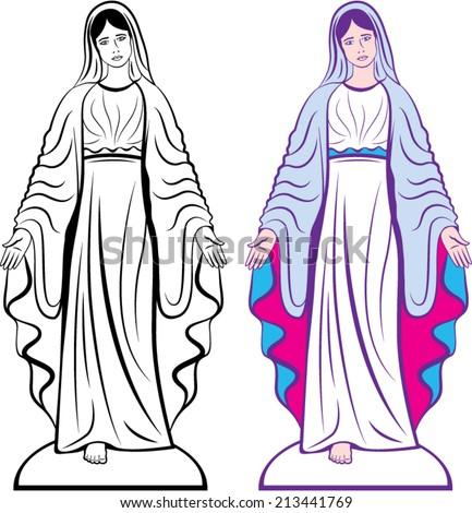 holy virgin godmother vector