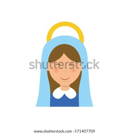 holy virgin mary cartoon icon