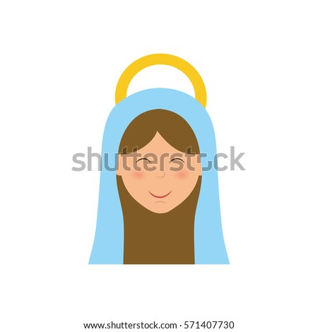 holy virgin mary cartoon icon