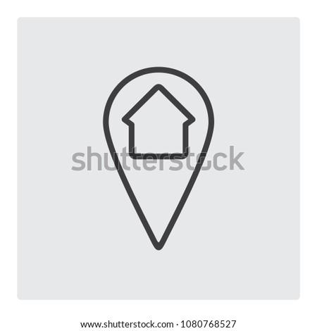 home adress location icon vector Photo stock ©