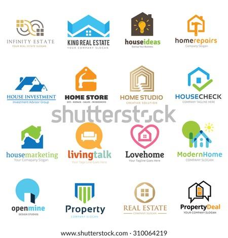 Home and real estate logo set