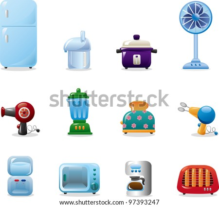 home appliances icons