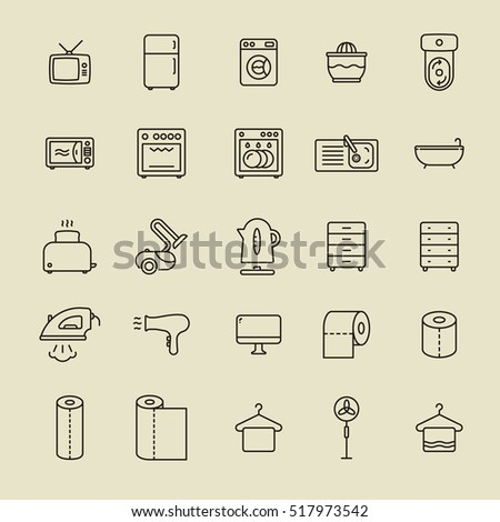 home appliances minimalistic