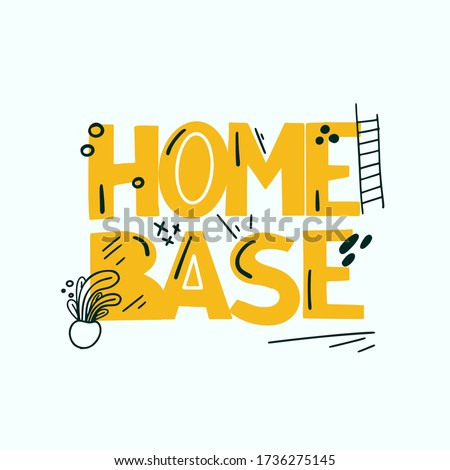 home base modern typography