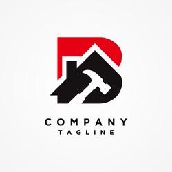 Home Builder Letter B Logo design vector