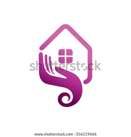 home care logo design stock vector 356219666 shutterstock. Black Bedroom Furniture Sets. Home Design Ideas