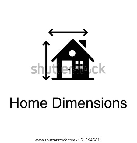 Home dimension vector in solid design