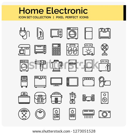 home electronic icons set ,web design pixel perfect 64x64 vector app ui