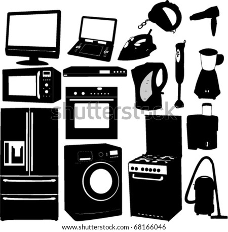 home electronic 1 - vector - stock vector
